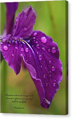 Canvas Print featuring the photograph Raindrops by Tyra  OBryant