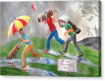 Canvas Print - Rained Out by Marilyn Jacobson