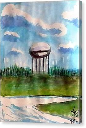 Raines Road Watertower Canvas Print by Loretta Nash