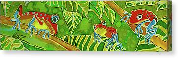 Rainforest Buds Canvas Print by Kelly     ZumBerge