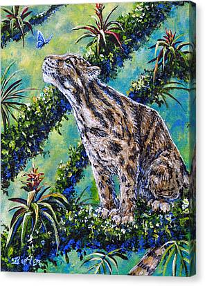 Rainforest Encounter Canvas Print by Gail Butler
