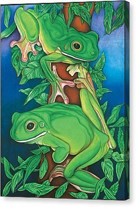 Rainforest Rendezvous Canvas Print by Lesley Smitheringale