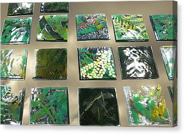 Rainforest Tile Prints Canvas Print by Sarah King