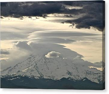 Canvas Print featuring the photograph Rainier 8 by Sean Griffin