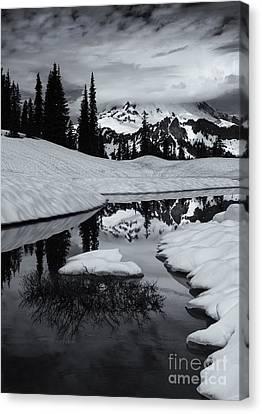 Rainier Winter Reflections Canvas Print