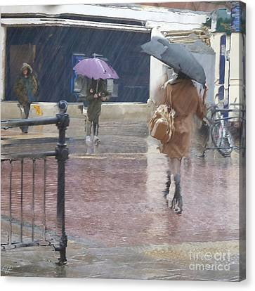 Canvas Print featuring the photograph Raining All Around by LemonArt Photography