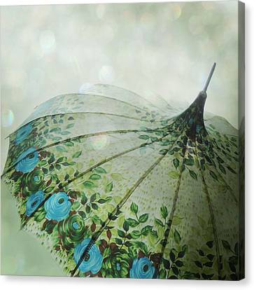 Canvas Print featuring the photograph Raining Bokeh by Sally Banfill