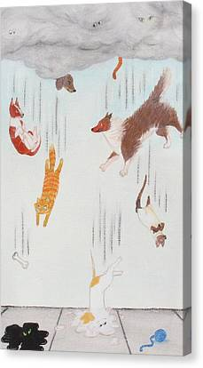 Raining Cats And Dogs Canvas Print