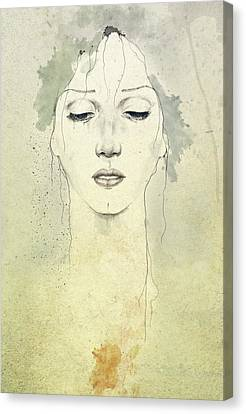 Portraits Canvas Print - Raining by Diego Fernandez