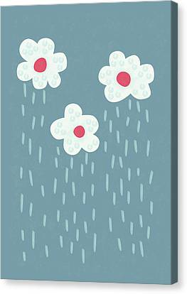Raining Flowery Clouds Canvas Print