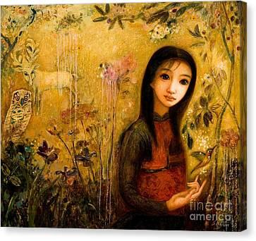 Raining Garden Canvas Print by Shijun Munns