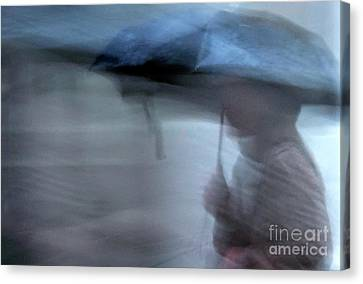 Raining In New Orleans Canvas Print by Kathleen K Parker