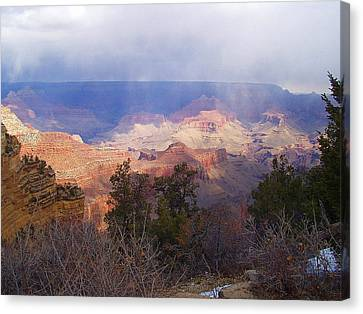 Raining In The Canyon Canvas Print by Marna Edwards Flavell