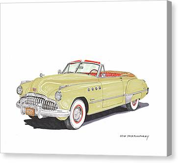 Not In Use Canvas Print - Rainman 1949 Buick Roadmaster by Jack Pumphrey