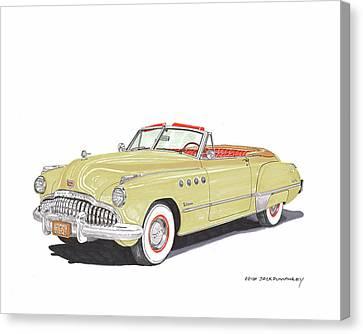 Rainman Buick Roadmaster Canvas Print by Jack Pumphrey