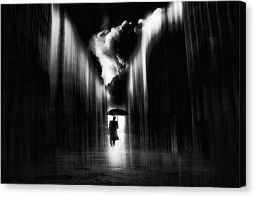 Warped Canvas Print - Rainwaker by Stefan Eisele