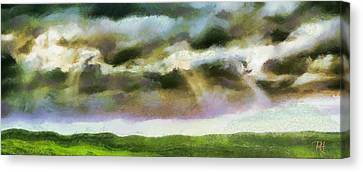 Sun Rays Canvas Print - Rainy Afternoon by Russ Harris