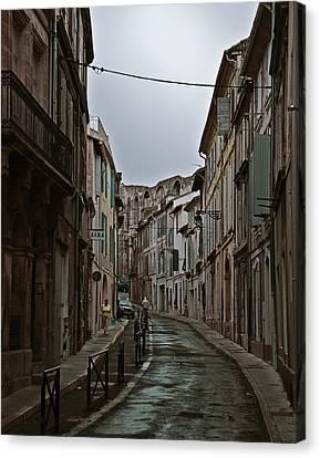 Rainy Arles Canvas Print by Ron Dubin