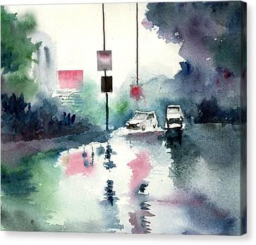 Rainy Day Canvas Print by Anil Nene