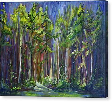 Rainy Day At Nutimik Lake Canvas Print