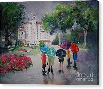 Rainy Day At The Broadmoor Hotel Canvas Print by Reveille Kennedy