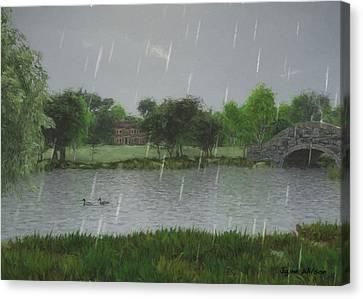 Rainy Day At The Lake Canvas Print