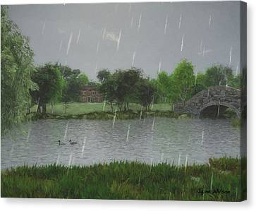 Rainy Day At The Lake Canvas Print by Jayne Wilson