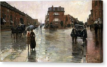 Rainy Day, Boston Canvas Print by Childe Hassam