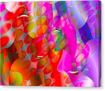Canvas Print featuring the digital art Rainy Day Girl by Robert Orinski