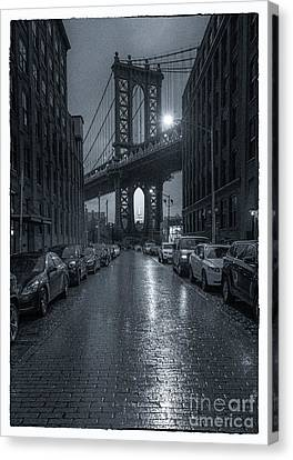 Rainy Day In Brooklyn Canvas Print by Marco Crupi