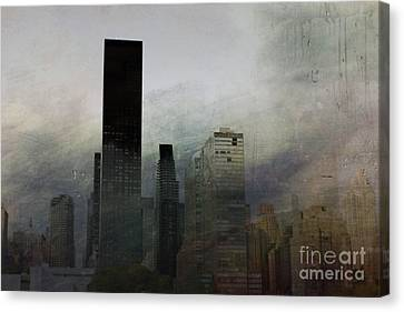 Rainy Day In Manhattan Canvas Print by Marcia Lee Jones