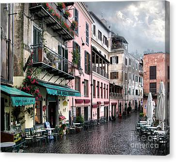 Rainy Day In Nemi. Italy Canvas Print