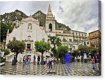 Rainy Day In Taormina 2 Canvas Print by Madeline Ellis