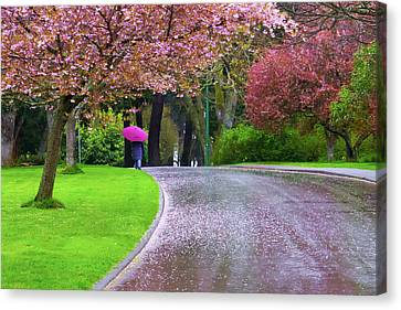 Rainy Day In The Park Canvas Print