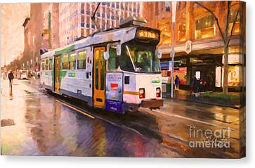Rainy Day Melbourne Canvas Print