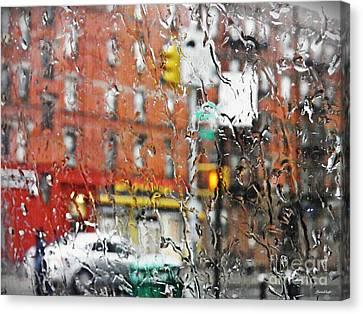 Rainy Day Nyc 2 Canvas Print by Sarah Loft