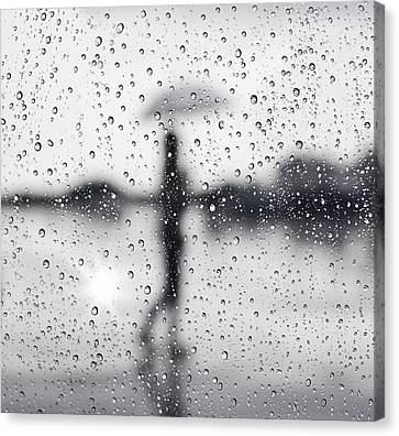 Reflection Canvas Print - Rainy Day by Setsiri Silapasuwanchai
