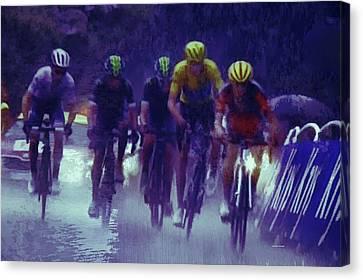 Rainy Day Sprint Canvas Print by Dennis Baswell