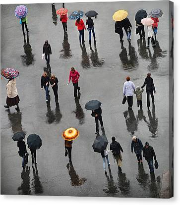 Canvas Print featuring the photograph Rainy Day by Vladimir Kholostykh