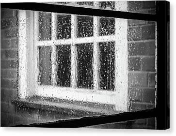 Rainy Day Window Canvas Print