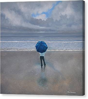 Rainy Days And Mondays Canvas Print by Paul Newcastle