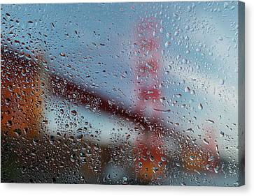 Rainy Golden Gate Canvas Print by Steve Gadomski