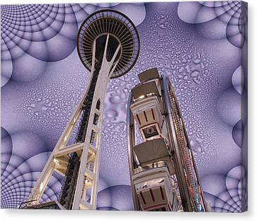 Rainy Needle Canvas Print by Tim Allen