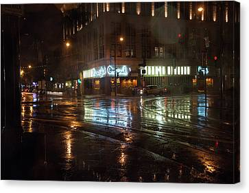 Rainy Night Canvas Print