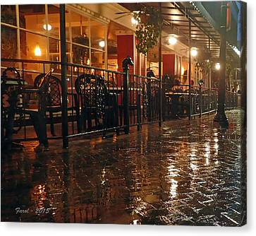 Rainy Night In Gainesville Canvas Print