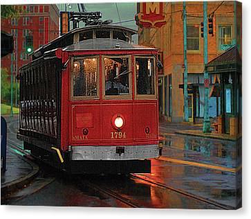 Rainy Night In Memphistenn Canvas Print by Don Wolf