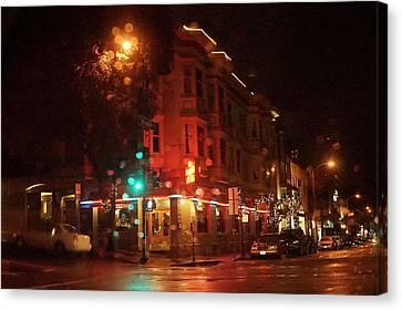 Canvas Print - Rainy Night San Francisco by April Bielefeldt