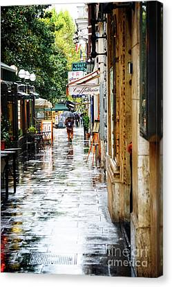 rainy streets of Rome Canvas Print by HD Connelly
