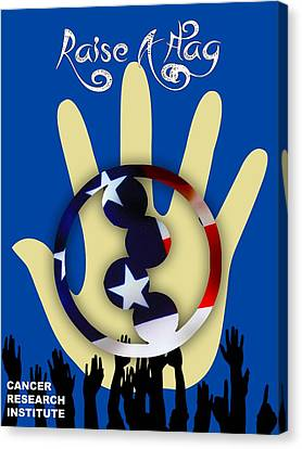 Raise A Flag Cancer Research Institute Canvas Print