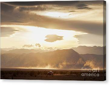 Raising Dust In Death Valley Canvas Print by Colin and Linda McKie